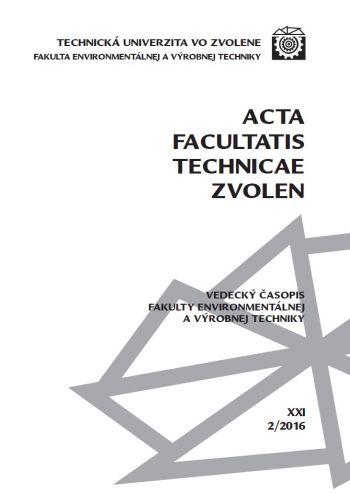 Acta Facultatis Technicae Zvolen 2016-2