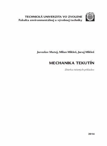 Mechanika tekutín – Zbierka riešených príkladov